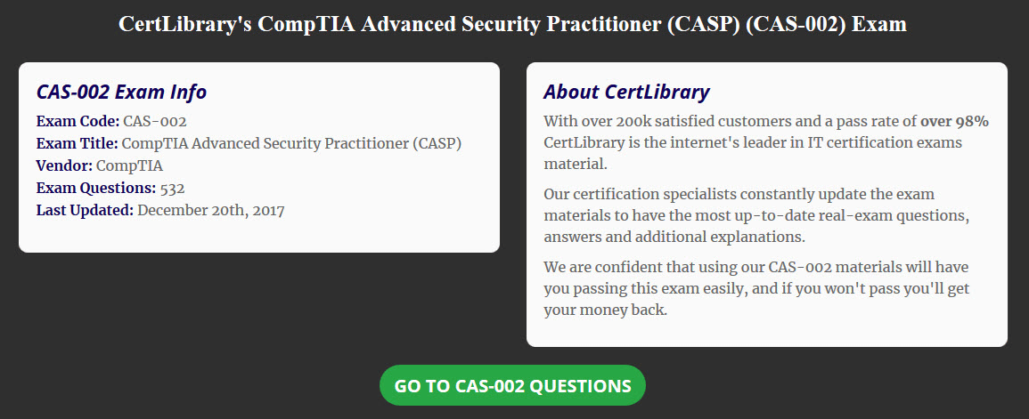 Getting Your CompTIA Advanced Security Practitioner Certification ...